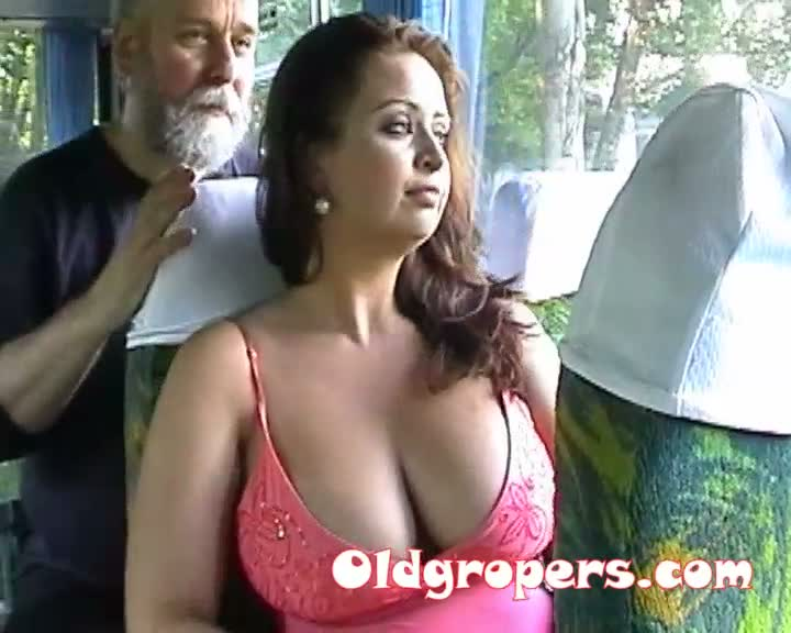 Big tits groped on bus eyezzzz love